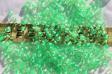 Close Out !! 6/0 seed beads Crystal Green Lined 4mm /1oz