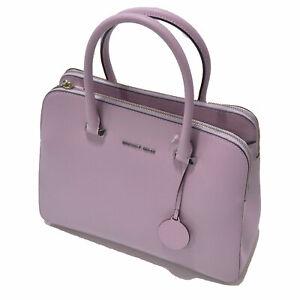 Michael Kors Purse Handbag Pink Medium Leather Double ZIp Top Damaged Mk New