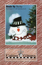 """Cotton Ginny's Sewing Craft Doll Pattern # Hm111 """"'Heads Up' Melty"""" Snowman Head"""