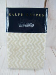 Ralph Lauren Cecily Margate 2 Standard Pillowcase Tan ~ NEW