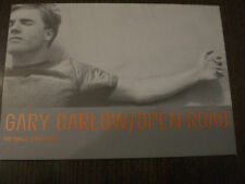 GARY BARLOW POSTCARD ADVERTISING OPEN ROAD SINGLE FROM 1997 EX