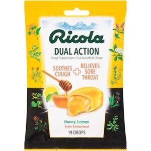 Ricola Ricola Dual Actn Honey Lemon 19 Count (Pack Of 12)