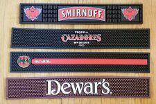 Bacardi Smirnoff Cazadores Dewars Rubber Bar Rail Long Spill Mat Barware Mancave