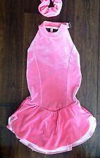 Sharene Pink Velvet Ice Figure Skating Competition Dress Ladies X-Small
