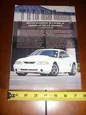 1995 FORD MUSTANG COBRA R - ORIGINAL 1999 ARTICLE