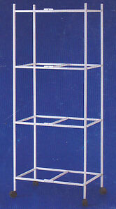 """4-Tiers Rollin 00006000 g Stand for 24""""x16""""x16"""" Aviary Bird Flight Breeding Cages"""