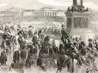 1856 Antique Print Russian Royalty Tsar Alexander Romanov St Petersburg Russia
