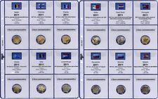 91/11C] PAGINE AGGIORNAMENTO PER MONETE 2 EURO COMMEMORATIVE 2011