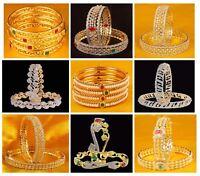 Indian Bollywood Designer Jewelry Ethnic Bridal Gold Plated Bangles Set