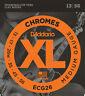 1 Set D'Addario ECG26 Chromes Flat Wound Medium Electric Guitar Strings 13-56