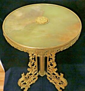 !!! Rare Brass  Table Onyx Top 30 in !!!