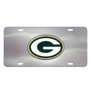 Fanmats NFL Green Bay Packers Chromed Steel Diecast Emblem Front License Plate
