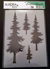 Stencil by Aurora Arts A4 Forest Fir Tree 190mic Mylar craft stencil 097
