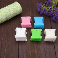 Plastic Embroidery Floss Thread Bobbins Cross Stitch Sewing Line Holder Tool