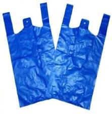 "Gilet in Plastica Blu Carrier Bags 11"" x 17"" x 21"" 18mu 80 scatole 1 pallet 80000 SACCHI"