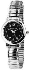 Excellanc Zugband Analog Damenuhr klassische Armbanduhr in Farbe Silber Schwarz