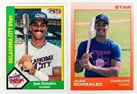 Juan Gonzalez (2) Cards (1988 Star/1990 CMC) Rookie Cards, Texas Rangers