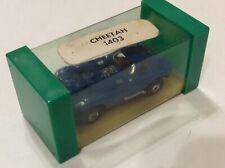 Vintage Aurora Thunderjet T-Jet Cheetah HO Slot car Blue Nice LQQK CUBED