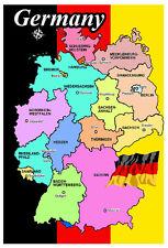 GERMANY MAP & FLAG - SOUVENIR FRIDGE MAGNET - BRAND NEW