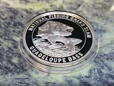 Guadeloupe Bass North American Fishing Club NAFC Grand Slam Silver Plate Coin