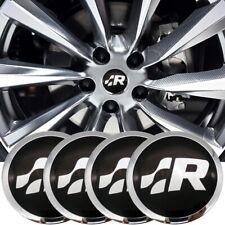 4 × 56 mm R Racing Emblem For Car Wheel Center Hub Caps Emblem Sticker Badge