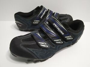 Specialized Cycling Shoes Mens Size 9.5 Womens Size 11 Blue Black 6113-4144