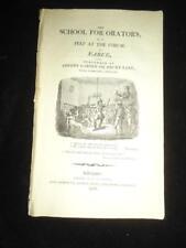 1809 School for Orators Peep at the Forum rare Liverpool farce Samuel W. Ryley