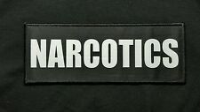 """Narcotics 3x8"""" Hook Backed Plate Carrier Raid Patch Police SWAT Sheriff Black"""