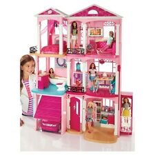 Barbie Dream House 3 Story With Elevator 70+ Accessories 4ft x 3ft  NEW!