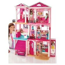 2015 Barbie Dream House 3 Story With Elevator 70+ Accessories 4ft x 3ft  NEW!