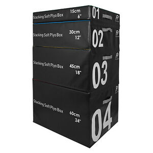 FunctionalFitness Soft Stackable Plyo Boxes - 15cm, 30cm, 45cm and 60cm