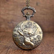 Lilo & Stitch Cartoon Film Movie Ohana Quartz Pocket Watch Full Hunter Chain
