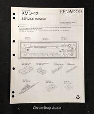 Original Kenwood KMD-42 MD Receiver Service Manual