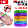 10 Pack Natural Mosquito Repellent Bracelet Wrist Band Bug Insect Protection