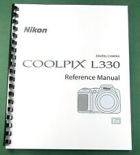 Nikon CoolPix L330 User's / Instruction: 184 Pages & Protective Covers