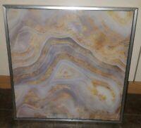 Casa Fine Arts Agate Allure Gold Metallic Geode Art Print Signed and Framed
