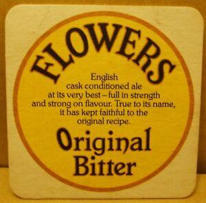 Old Flowers Original Bitter pub beer mat -