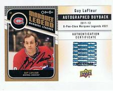RARE 2011 12 OPC AUTO Buyback GUY LAFLEUR 19 / 25 Montreal Canadiens Hard signed