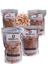 Smokerland, räucherchips XXL pacchetto - - 4, Butchers, Fruity, Fishers, Hickory