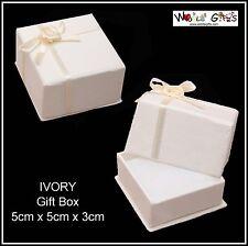 6 x Crema Pendientes Anillo Collar Caja Para Joyería