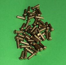 50 Messing Halbrundnieten  Vollnieten Nieten DIN 660 Halbrundkopf 3x12
