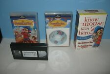 An American Tail & Fievel Goes West Boxset VHS W/ Bonus Movie Book CD Mac / PC
