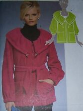 misses winter comfy fleece JACKET pattern OOP easy to make stadium length