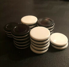 25 Othello Game Pieces Replacement Black and White Discs Chips Tokens