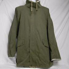 Timberland Weathergear Men's Size XL Field Jacket Coat 100% Cotton Leather Trim