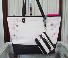 Betsey Johnson Floral Daisy Tote 2 in 1 Bag Shopper Handbag with Wristlet NWT