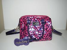 Loungefly Hello Kitty Purple & Pink Leopard Patent Embossed