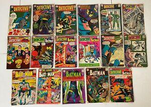 BATMAN #156 193 195 196 DETECTIVE 354 to 379 DC Silver 17pc Run Lot Scratch Dent
