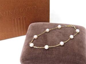 MIKIMOTO K14 Yellow Gold Pearl 5.5mm Bracelet 18633740