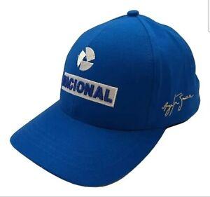 Ayrton Senna Nacional F1 Cap ( Adult Size, Blue) US Seller